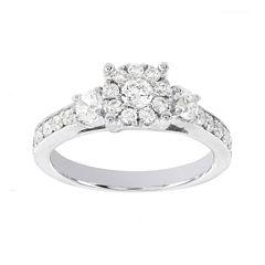 Lumastar 1 CT. T.W. Diamond 14K White Gold Bridal Ring