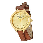 Stührling® Original Womens Tan Leather Strap Watch