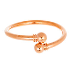 Rose IP Stainless Steel Bypass Bangle
