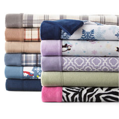 Sunbeam® Super-Soft Heavyweight Fleece Sheet Set