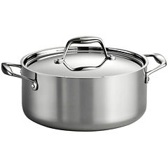 Tramontina Gourmet 6-qt. Tri-Ply Clad 18/10 Stainless Steel Induction-Ready Sauce Pot with Lid