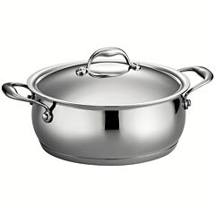 Tramontina Gourmet Domus 5-qt. 18/10 Stainless Steel Induction-Ready Dutch Oven with Lid