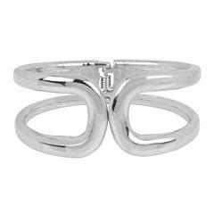Worthington® Hinged Silver-Tone Bangle Bracelet