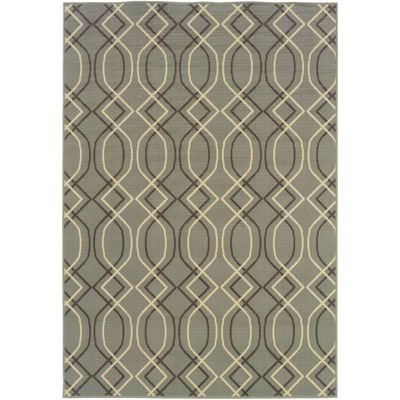 Lovely Covington Home Air Waves Indoor/Outdoor Rectangular Rug