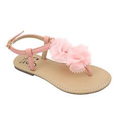 OMGirl Camellia Girls Floral Buckle Sandals - Little Kids