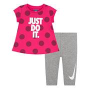 Nike Girls Legging Set-Baby