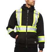 Work King® Long-Sleeve High Visibility Hoodie Jacket - Big & Tall