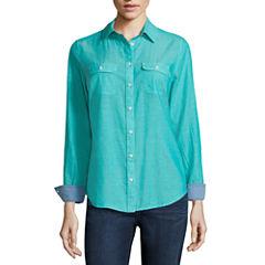 St. John's Bay® 2-Pocket Classic Shirt