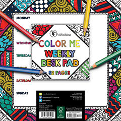 Color Me Weekly Desk Pad