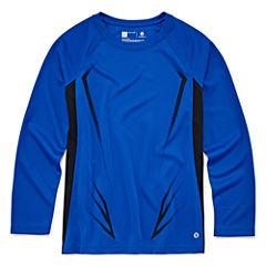 Xersion Long Sleeve Crew Neck T-Shirt-Big Kid Boys