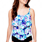 Azul by Maxine of Hollywood Double-Tiered Tankini Swim Top