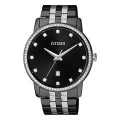 Citizen Quartz Mens Black Bracelet Watch-Bi5037-52e