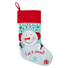 North Pole Trading Co. Embroidered Snowman Stocking