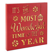 North Pole Trading Co. Most Wonderful Time LED Sign