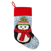 North Pole Trading Co. 3D Penguin Stocking