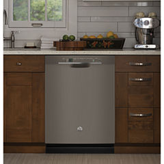 GE® Stainless-Steel Interior Dishwasher with Front Controls