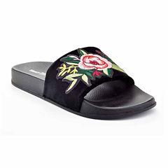 Henry Ferrera Paco Flower Womens Slide Sandals