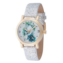 Disney Princess Disney Princess Womens Silver Tone Strap Watch-Wds000177