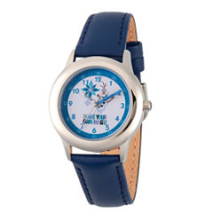 Disney Princess Olaf Frozen Boys Blue Strap Watch-Wds000194