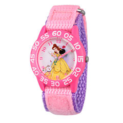 Disney Princess Belle Beauty and the Beast Girls Pink Strap Watch-Wds000223