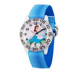 Disney Princess Belle Beauty and the Beast Girls Blue Strap Watch-Wds000225