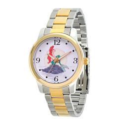 Disney Princess Ariel The Little Mermaid Womens Two Tone Bracelet Watch-Wds000233