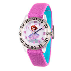 Disney Princess Sofia The First Girls Purple Strap Watch-Wds000265
