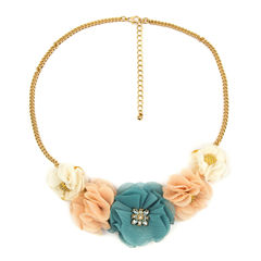 Decree Flower Cluster Statement Necklace