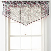 Home Expressions™ Purr Sheer Rod-Pocket Ascot Valance