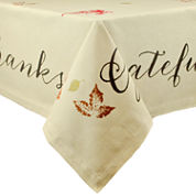 Design Imports Rustic Leaves Tablecloth