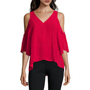 nicole by Nicole Miller® Cold-Shoulder Top