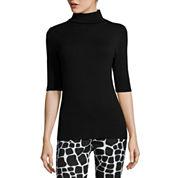 Liz Claiborne® Elbow-Sleeve Turtleneck Sweater