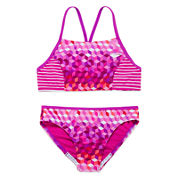 Speedo® Illusion Cube Bikini Swimsuit- Girls 7-16