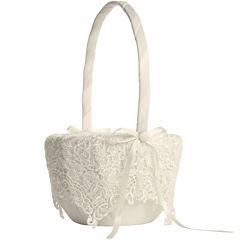 Ivy Lane Design™ Vintage Lace Flower Girl Basket