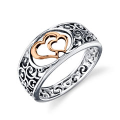 Footnotes Womens Sterling Silver Band