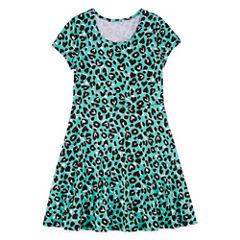 City Streets Short Sleeve Cap Sleeve Skater Dress - Big Kid Girls