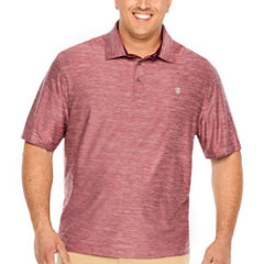 IZOD Short Sleeve Golf Solid Jersey Polo Shirt- Big & Tall