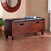 Saxon Pine 2-Drawer Storage Bench