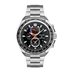 Seiko Mens Silver Tone Bracelet Watch-Ssc487