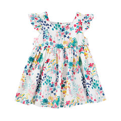 Oshkosh Short Sleeve Floral A-Line Dress - Baby Girls