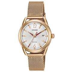 Drive from Citizen Womens Rose Goldtone Bracelet Watch-Fe6083-72a