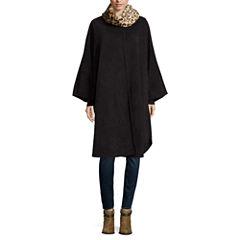 Mixit™ Fur Self-Tie Fleece Ruana