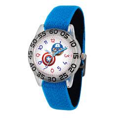 Emoji Marvel Boys Blue Strap Watch-Wma000077