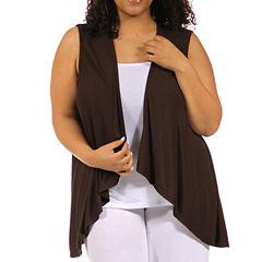 24/7 Comfort Apparel Sleeveless Shrug Vest Plus
