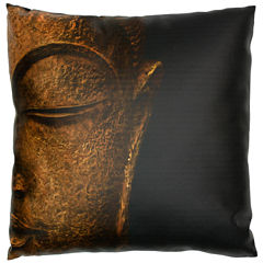 Oriental Furniture Serene Buddha Throw Pillow