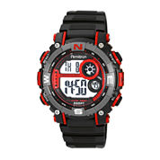 Armitron® Mens Pro Sport Black And Red Digital Strap Watch 40/8284RED