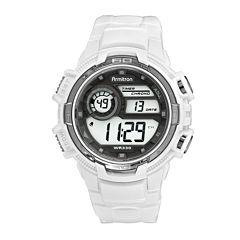 Armitron Mens White Strap Watch-40/8347wht
