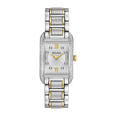 Bulova Womens Two Tone Bracelet Watch-98r227