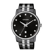 Citizen Quartz Mens Black Bracelet Watch-Bi5037-52e
