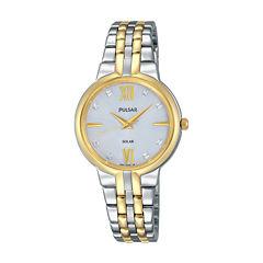 Pulsar Womens Two Tone Bracelet Watch-Py5024